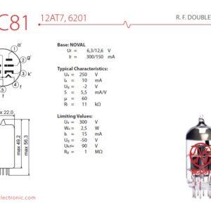 Válvula ECC81 12AT7