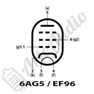 pines válvula 6AG5 EF96