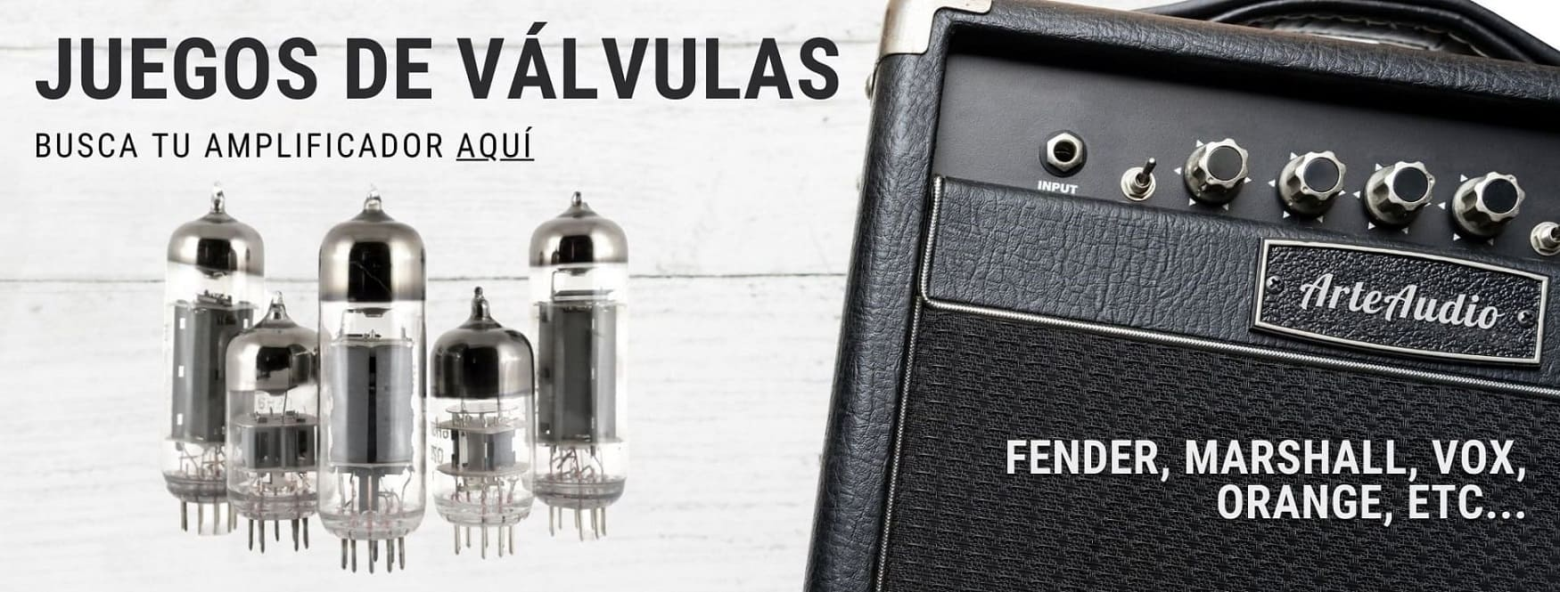 Kits y juegos de válvulas para amplificadores de guitarra